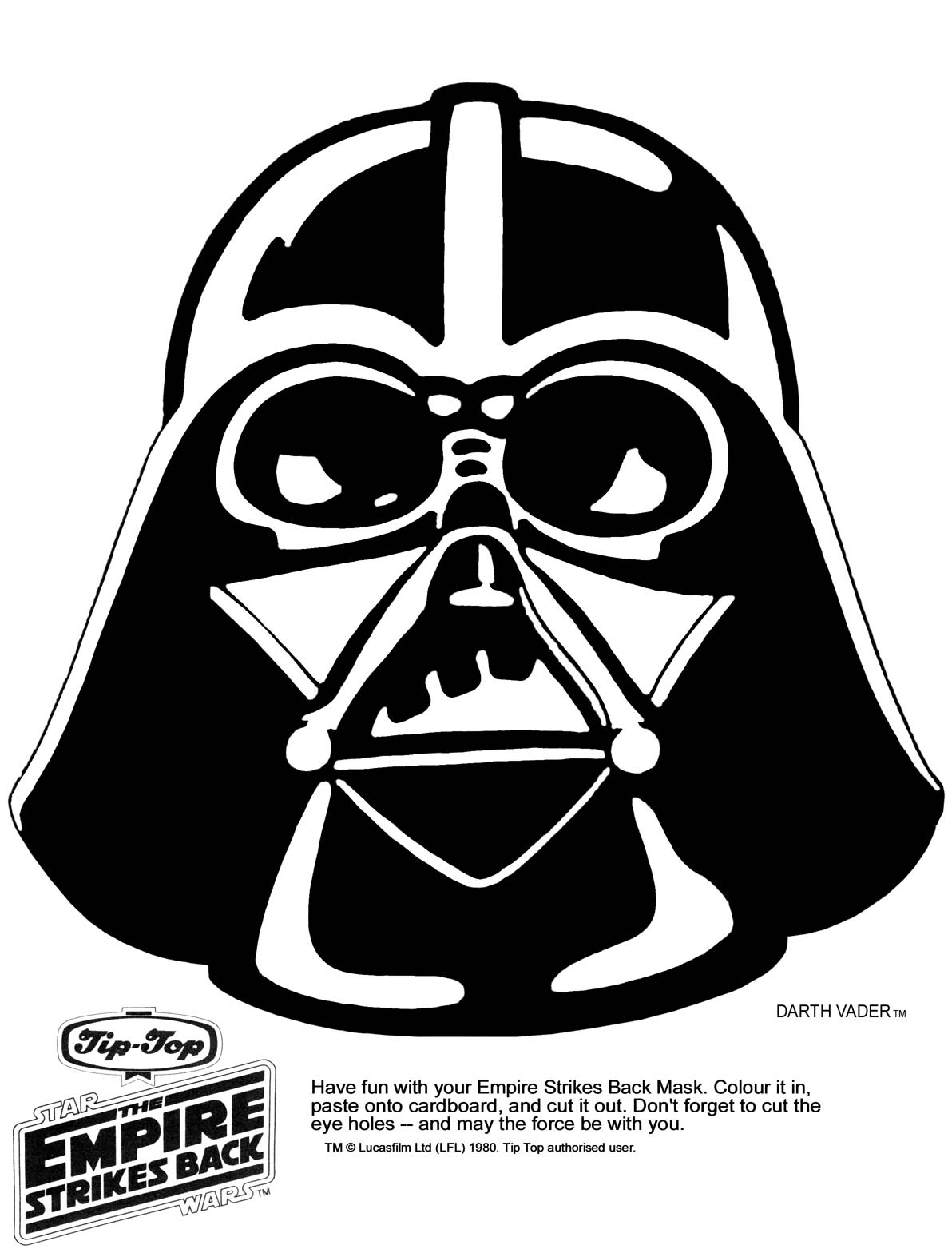 darth vader clipart outline - Clipground