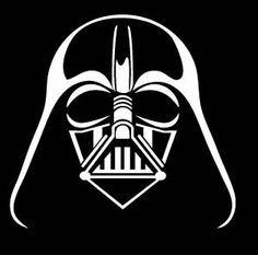 star wars black white clip art.