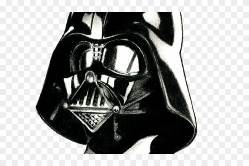 Drawn Darth Vader White Png.