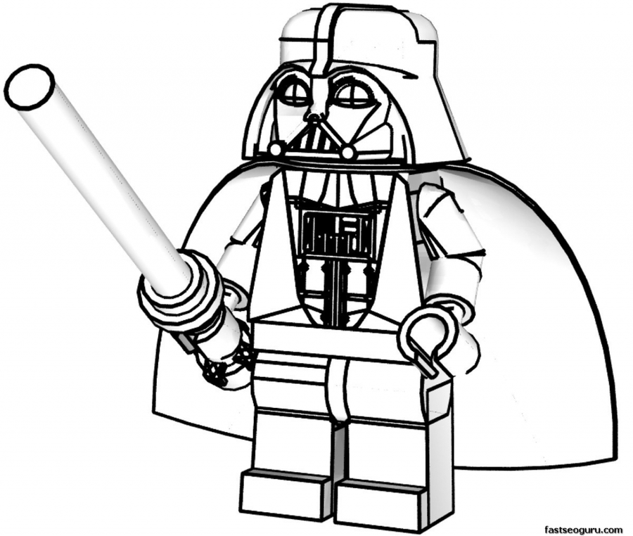 Download colouring pages star wars lego clipart Anakin Skywalker.