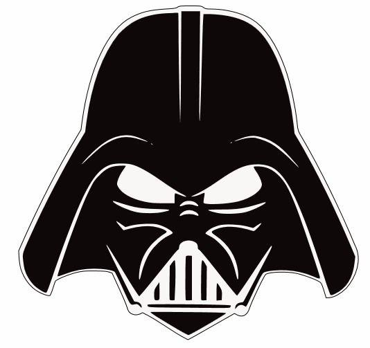Darth Vader Head Silhouette Darth vader stencil i got.