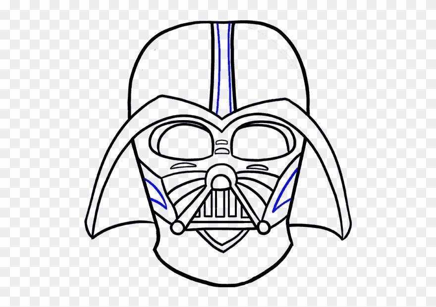 Draw Darth Vader Head Clipart (#1526659).