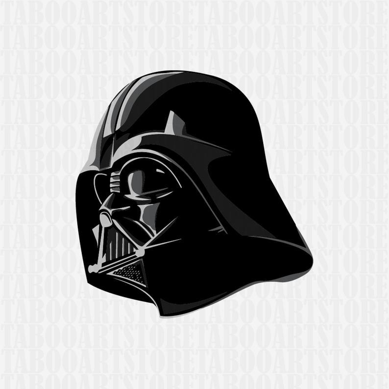 darth vader clipart, darth vader helmet svg, star wars svg, darth vader  clipart, eps, darth vader silhouette, darth vader files.