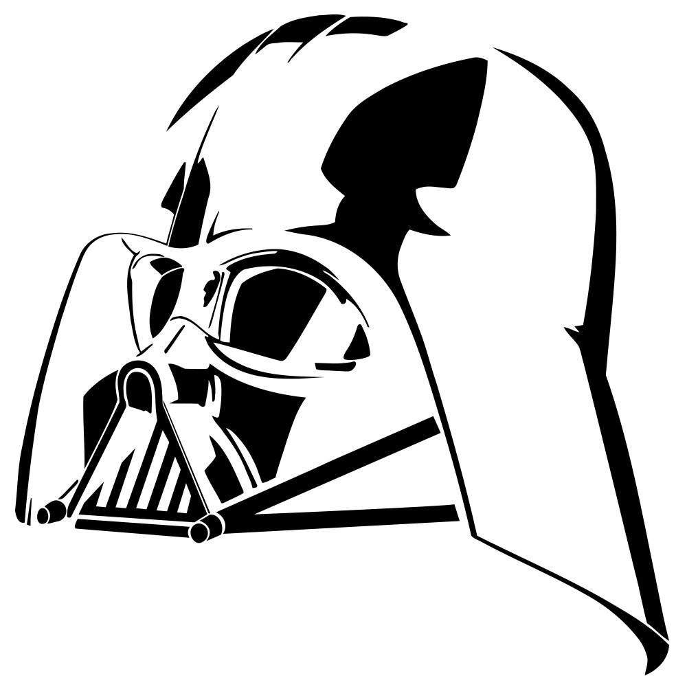 Darth Vader Head Drawing.