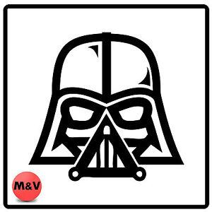 Details about Star Wars Darth Vader Helmet Bumper/Window Sticker.