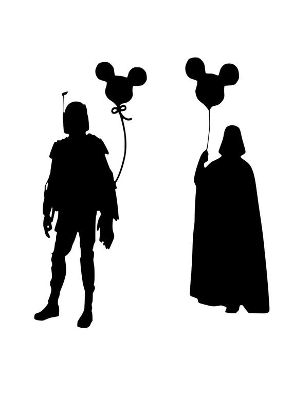 Boba Fett & Darth Vader Mickey balloon svg.