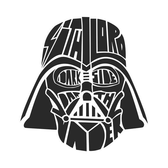 Dark Side svg Darth Vader svg Star Wars svg SVG DXF Png Vector Cut File  Cricut Design Silhouette Vinyl Heat Transfer Iron.