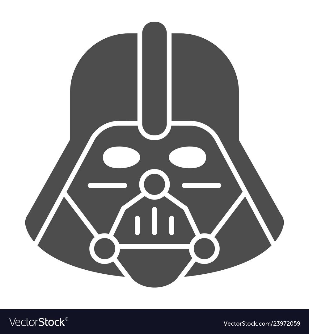 Darth vader solid icon star wars vector image.