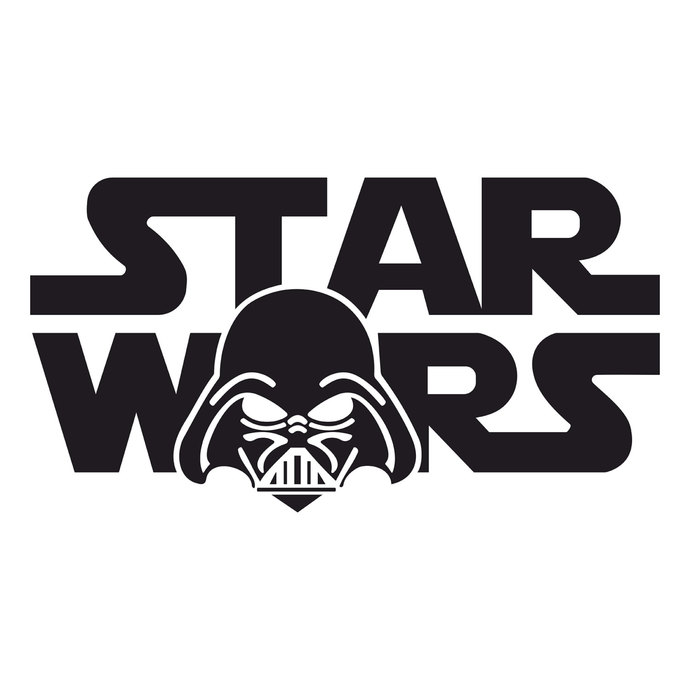 Star Wars Darth Vader graphics design SVG DXF EPS Png Cdr Ai Pdf Vector Art  Clipart instant download Digital Cut Print Files Vinyl.