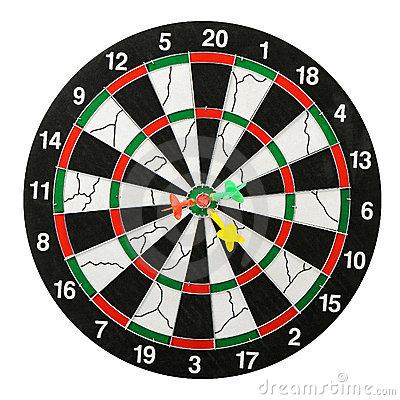 Darts Board Stock Image.