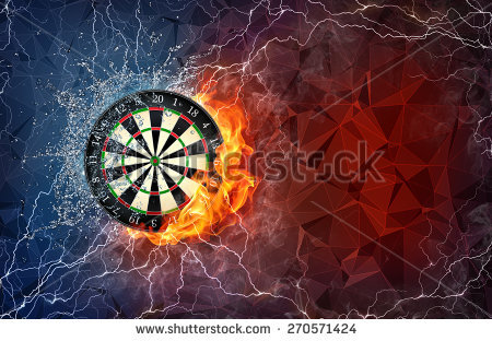 Darts Board Fire Water Isolated On Stock Illustration 87011837.