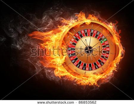Darts Board Fire Isolated On Black Stock Illustration 87011846.