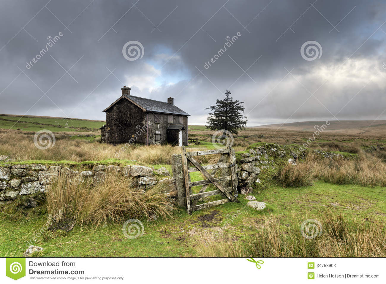 Stormy Day On Dartmoor Stock Photos.