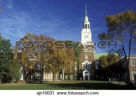 Stock Photography of New Hampshire, Dartmouth college, Hanover.