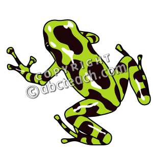 Clip Art: Frogs: Green & Black.