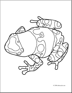 Poison Dart Frog Coloring Pages coloring page, coloring image.