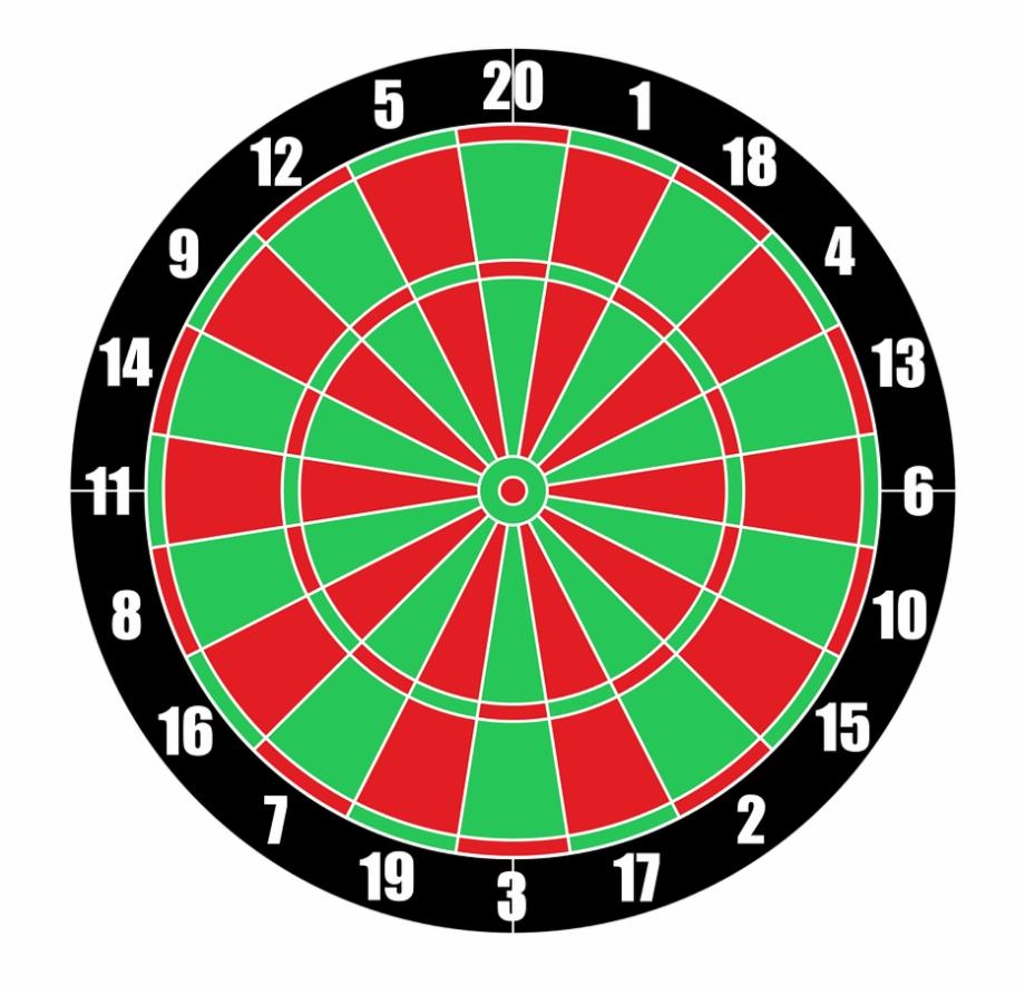 Vector Dartboard Target Darts Png Image.