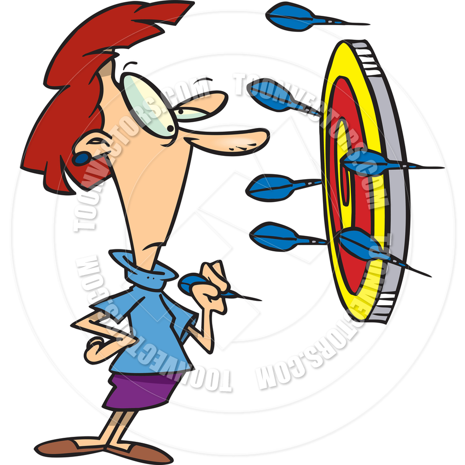 Throwing darts clipart.