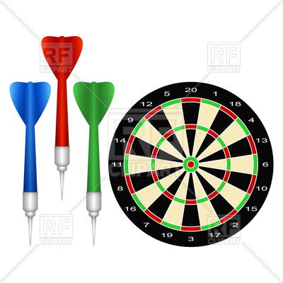 Accessories for the game of darts Vector Image.