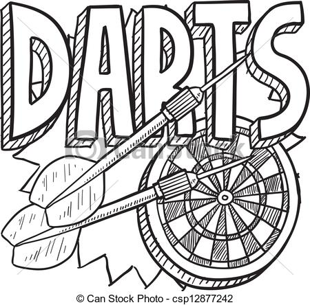 EPS Vector of Darts sketch.