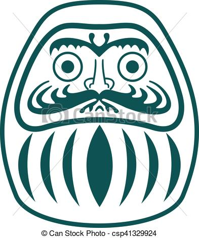 Vector illustration daruma.