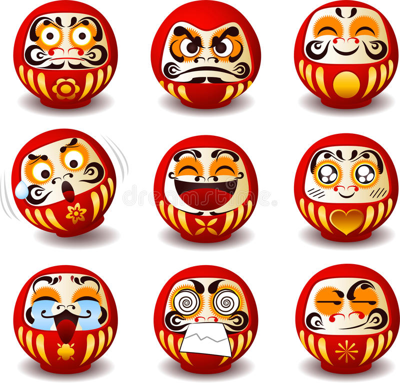 Daruma Doll Stock Illustrations.