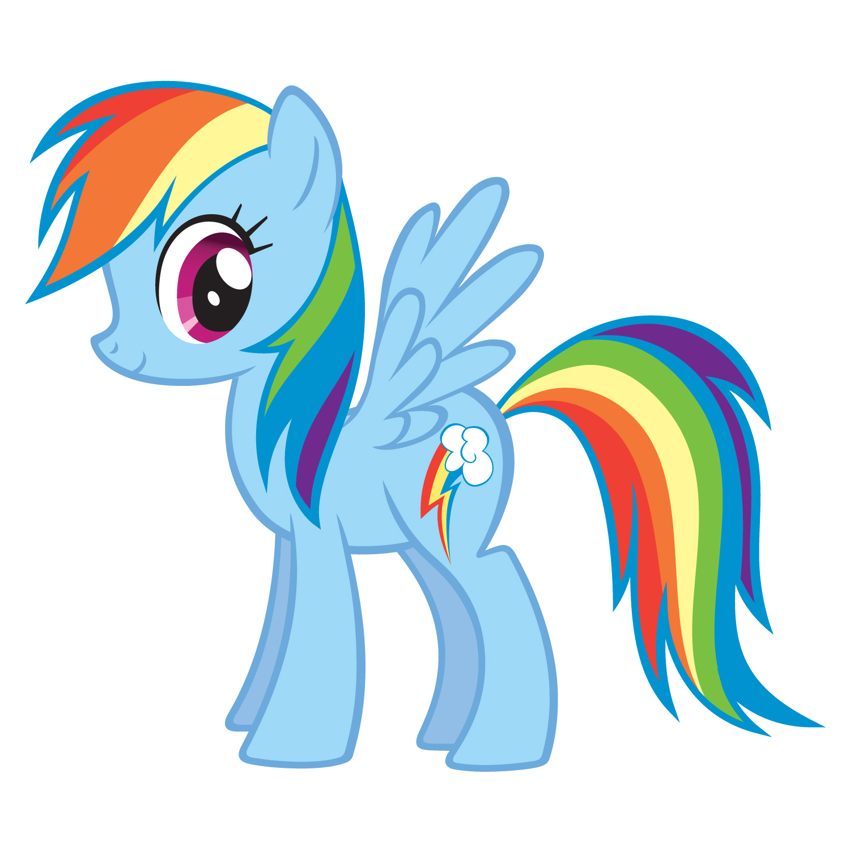 Mlp clipart rainbow dash.