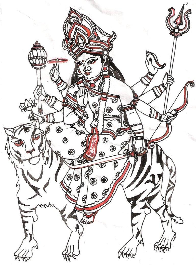 Durga Mata by sarasuke on DeviantArt.