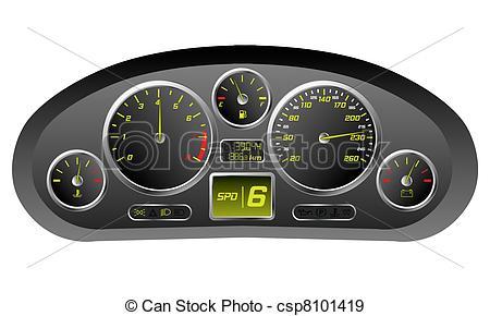 Dashboard Clipart.