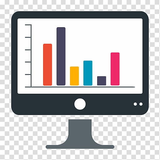 Monitor with chart , Dashboard Computer Icons Business.