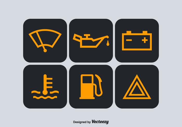 Free Car Dashboard Vector Symbols.