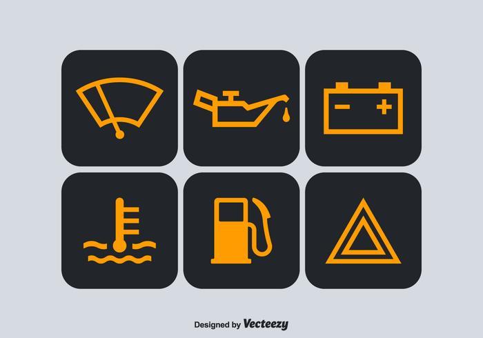 Free Car Dashboard Vector Symbols.