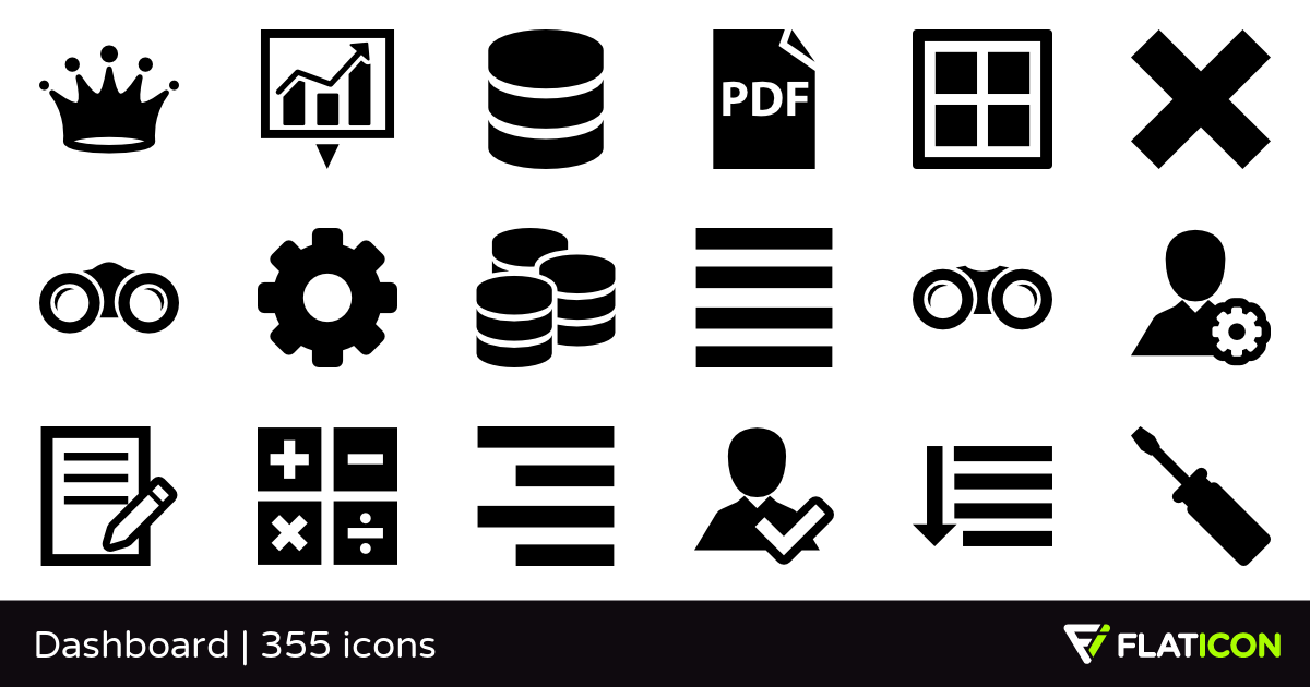 Dashboard 355 free icons (SVG, EPS, PSD, PNG files).