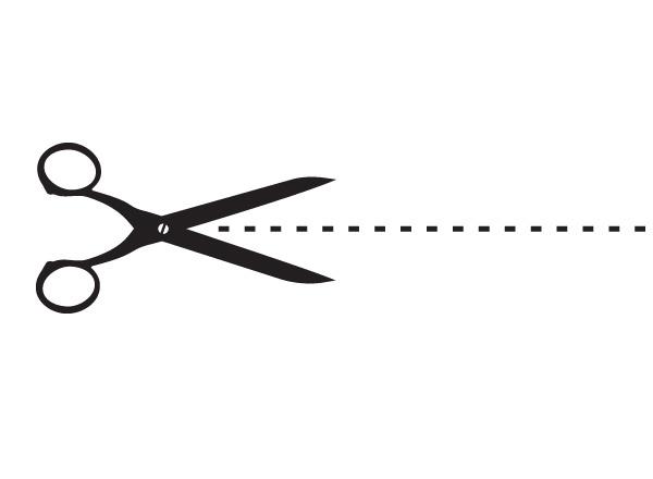 Clip Art Scissors Dotted Line Clipart.