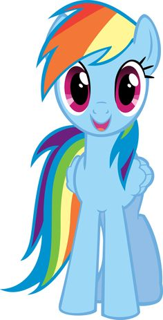 Clipart of rainbow dash.