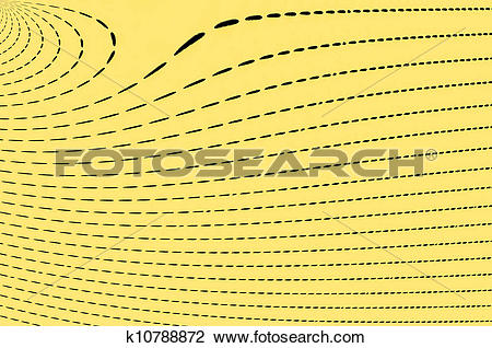 Clip Art of Yellow Dashes k10788872.