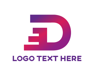 Dashing Letter D Logo.