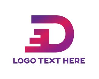 Dashing Letter D Logo.
