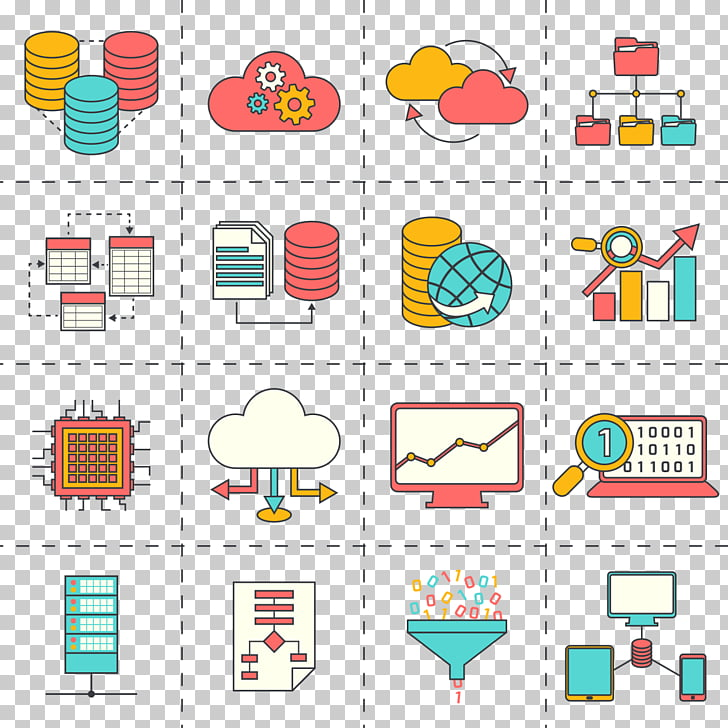 Data analysis Computer Icons Big data Analytics, business linear.