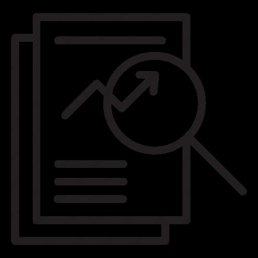 Download data analysis icon.