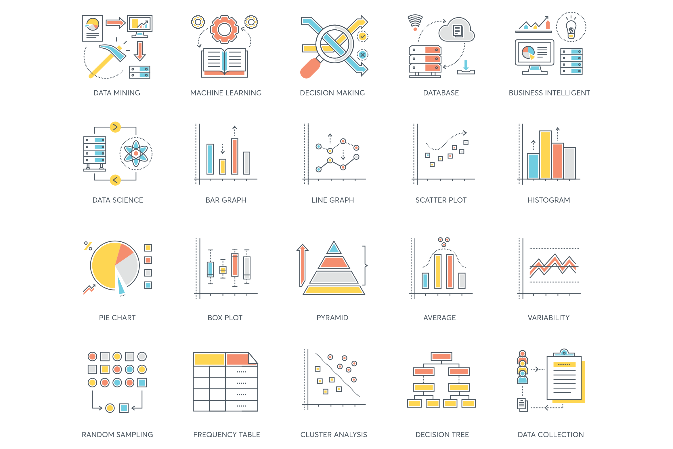 73 Data Analytics Icons.