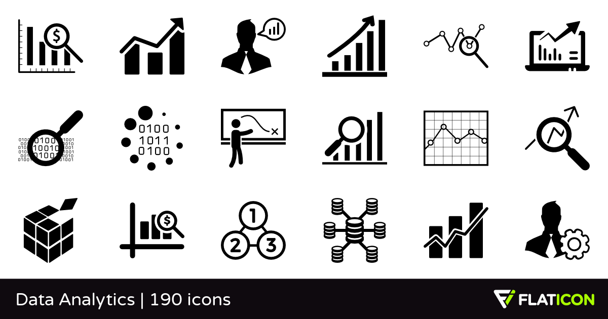 Data Analytics 190 free icons (SVG, EPS, PSD, PNG files).