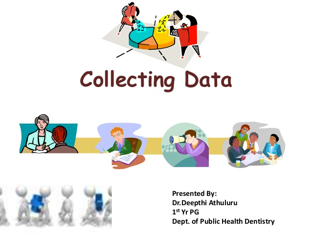 Data collection and presentation in Research.