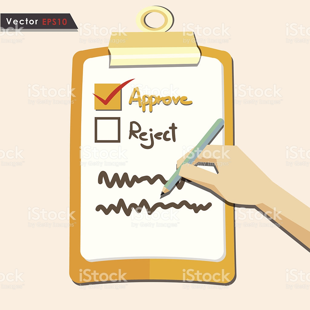 Evaluation Approve Quality Check stock vector art 453649499.
