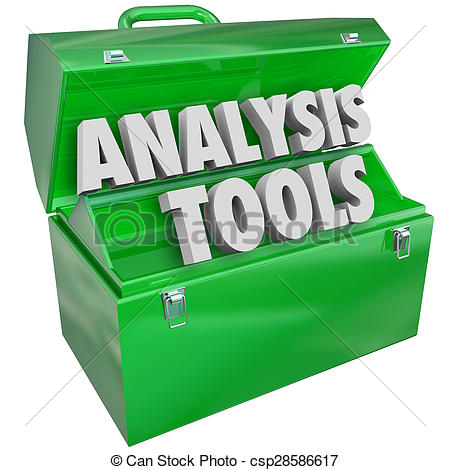 Clipart of Analysis Tools Toolbox Evaluation Examination.