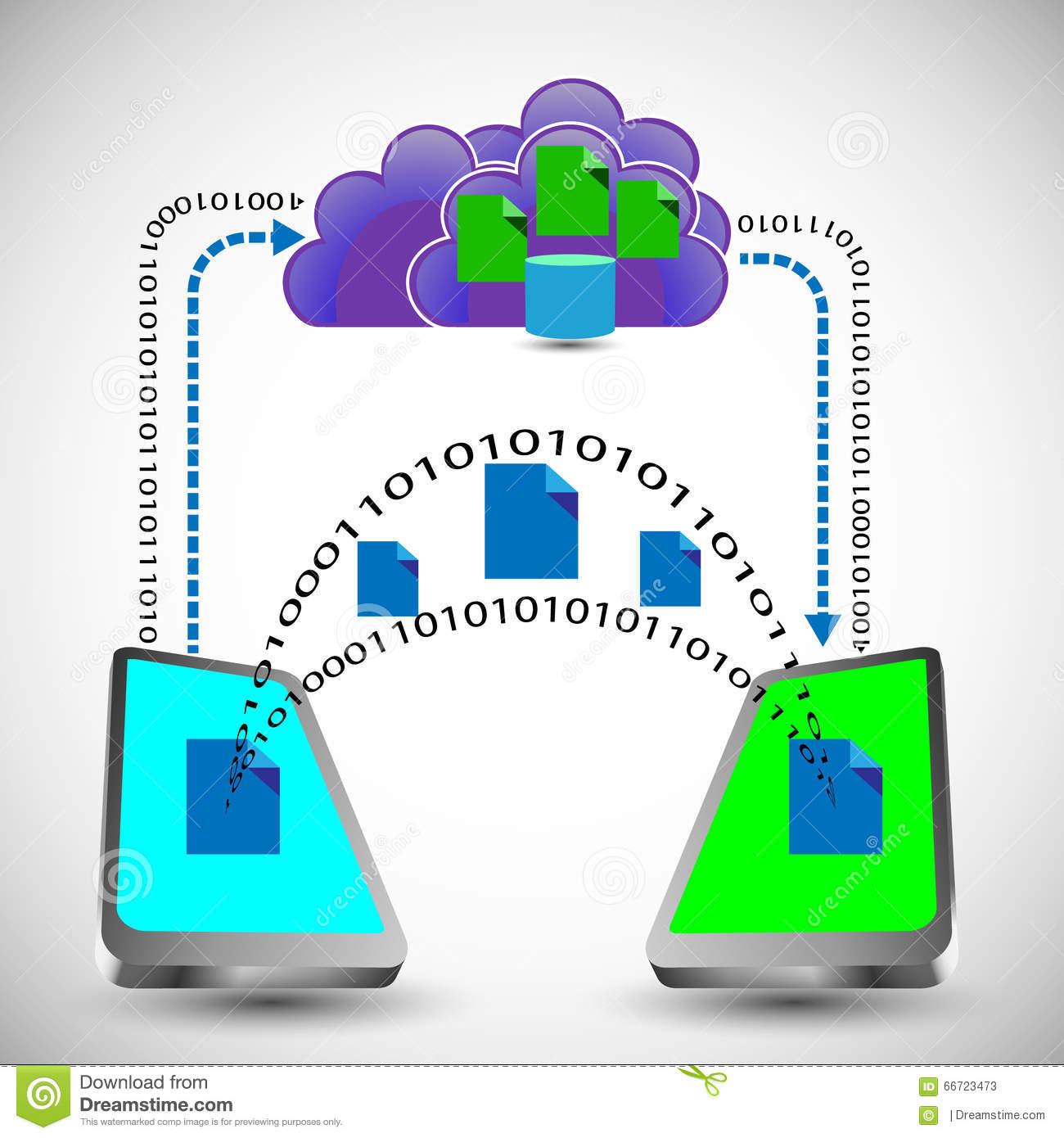 Data Exchange On Mobile. Royalty Free Stock Image.