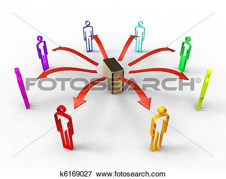 Stock Illustration of Social data exchange k6169027.