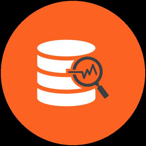 Data, analysis, database, search Icon Free of Web Hosting.