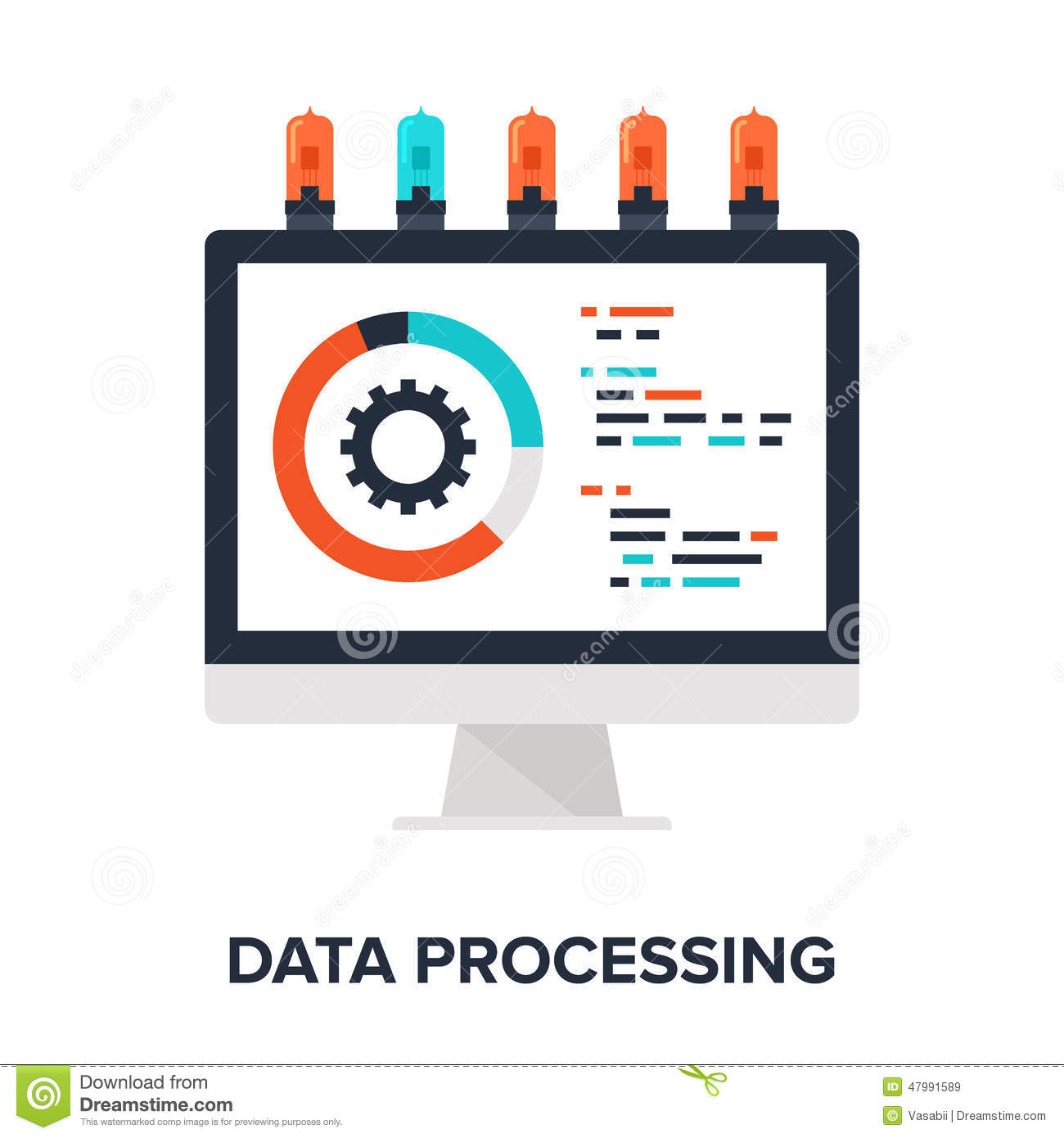 Data Processing Royalty Free Stock Photography.