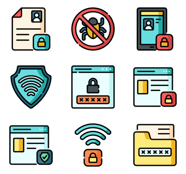 7 data privacy icon packs.